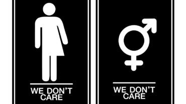 All gender restroom sign. Male female transgender . Vector illustration eps 10