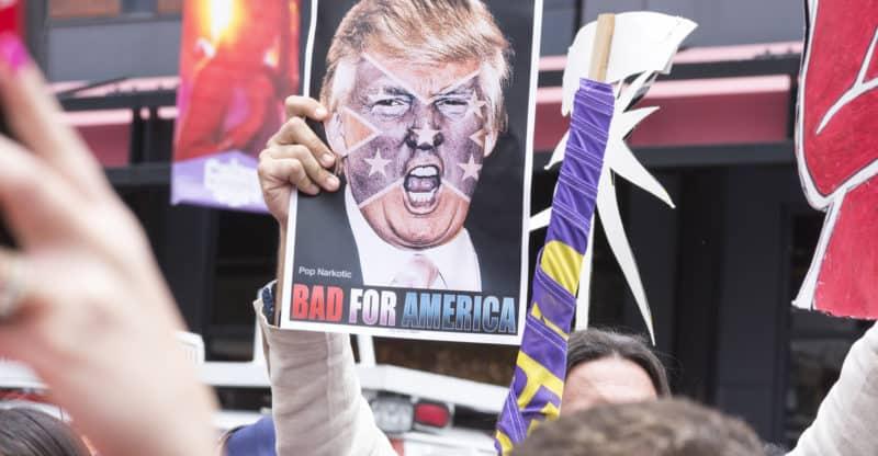 anti trump protestor