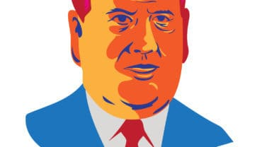 """Illustration showing Christopher James """"Chris"""" Christie Governor of New Jersey"""