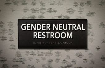 Gender Neutral Restroom sign with slight vignette