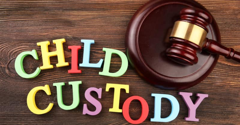 child custody with colorful magnet letters
