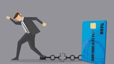 Break Free From Credit Card Debt Conceptual Vector Illustration