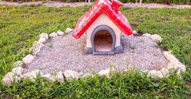 Dog Red House Gravestone