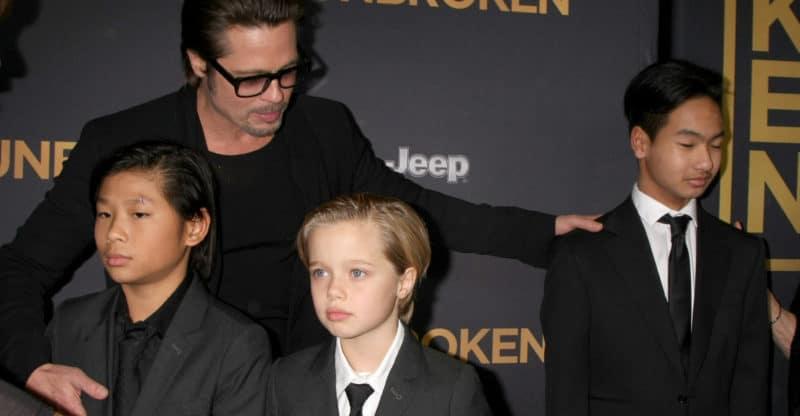 Brad Pitt and Children