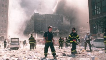 NYC Firefighters at Ground Zero on 9-11