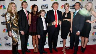NEW YORK-FEB 16:(L-R)Lara Yunaska, Eric Trump, Melania Trump, Ba