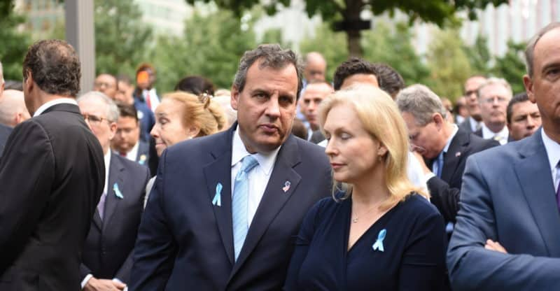 Chris & Mary Pat Christie at WTC memorial service