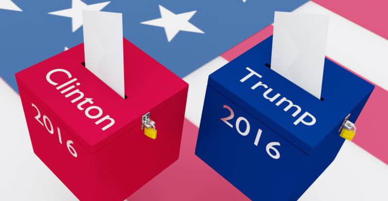 Clinton Vs Trump Election Concept
