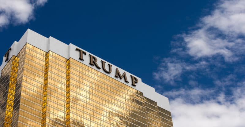 Trump International Hotel in Las Vegas NV set against a dramatic blue sky