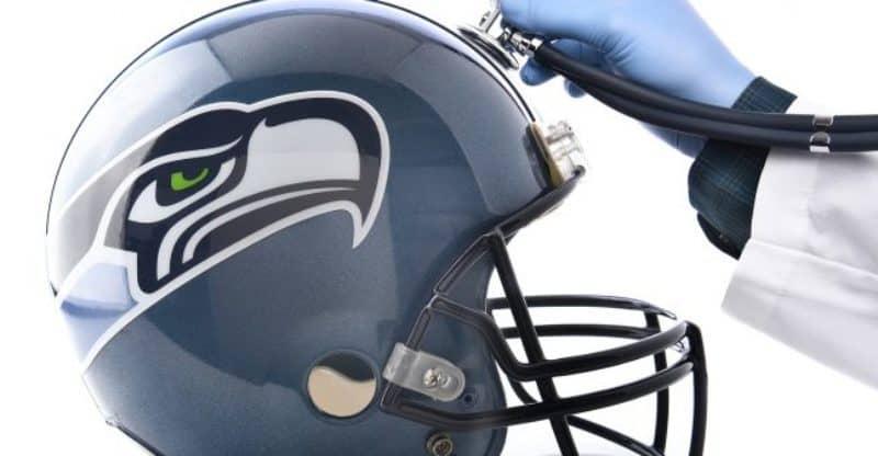 NFL Concussion Seahawks helmet