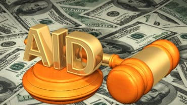 Aid Legal Gavel Concept 3D Illustration