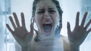 rape victim woman in emotional stress and pain