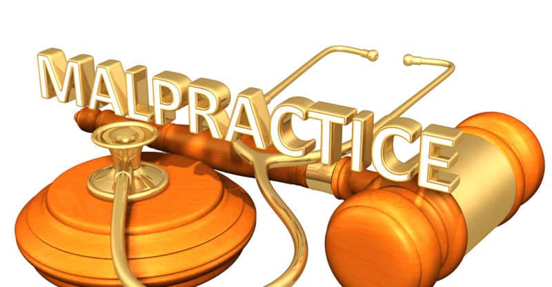 Malpractice Legal Gavel Concept 3D Illustration