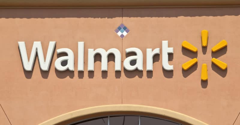 Porter Ranch, California, USA - September 15, 2011: Typical suburban Walmart big box store sign in afternoon light.