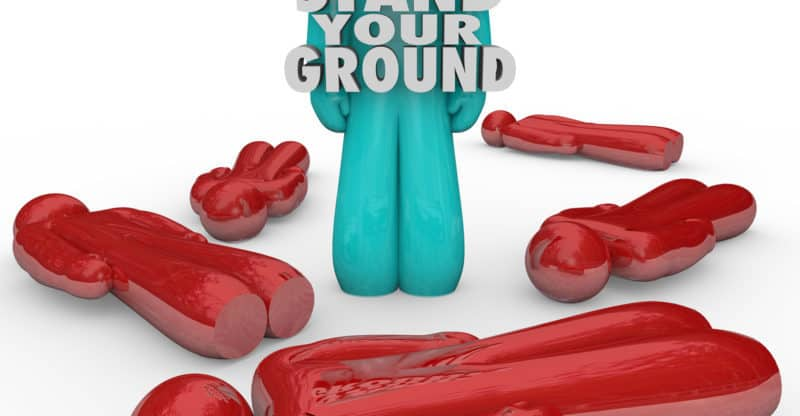 Stand Your Ground Person Self Defense Standing