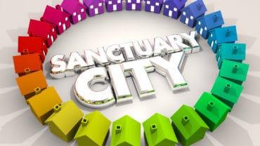 Sanctuary City Safe Place Area Neighborhood Immigration 3d Illustration